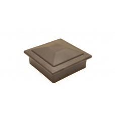 Комплект крышка/юбка для столба POLIVAN (Россия) коричневый
