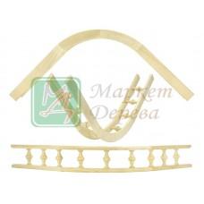 Балюстрада мебельная угловая БЕРЕЗА R150