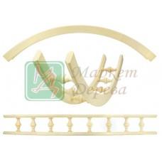 Балюстрада мебельная угловая БЕРЕЗА R300