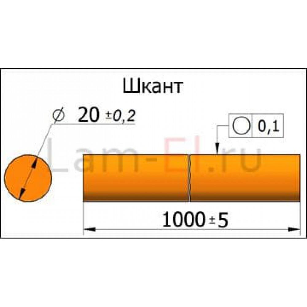 Мебельный шкант (нагель) БЕРЕЗА 1000х20мм